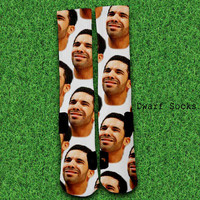Drake-Face Socks,Custom socks,Personalized socks,Elite socks