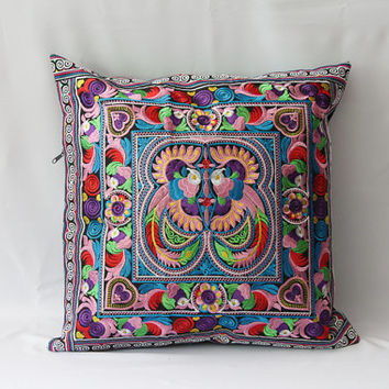Thailand pillow/cushion cover/PILLOW COVER/Needlecraft/Suzani pillow/decorative cushion/ethnic pillow
