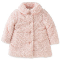 Calvin Klein Baby Girls' Faux-Fur Coat