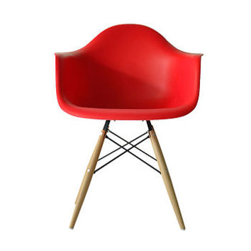 Chair, Eames Style Wood Base Chair