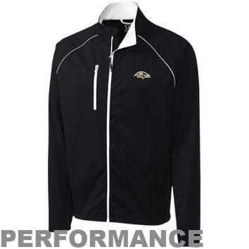 Cutter & Buck Baltimore Ravens Mount Adams Full Zip Performance Jacket - Black