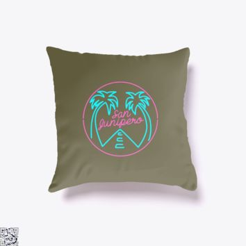 San Junipero, Black Mirror Throw Pillow Cover