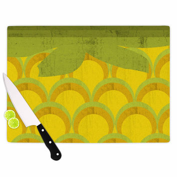 "Kathleen Kelly ""Pineapple"" Digital Food Cutting Board"