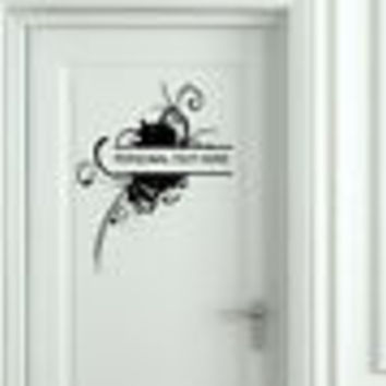Wall Mural Vinyl Decal Sticker Sign Door Frame Personalized Text Name AL265