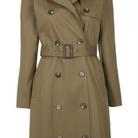 Cotton Trench Coat - Topshop