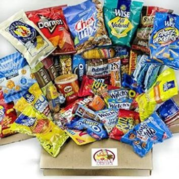 Sweet & Salty Care Package (48 Count) With Snack Gifts Best Gift For College Student And Thinking of You Gift Care Package