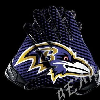 Baltimore Ravens Glove 3x5 ft flag 100D Polyester flag 90x150cm NFL custom american football gloves flag