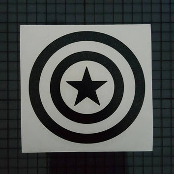 Marvel Comics Decal - Captain America Shield Design - 16 colors & Multiple Sizes