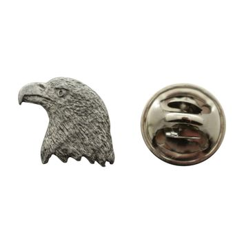 Eagle Mini Pin ~ Antiqued Pewter ~ Miniature Lapel Pin