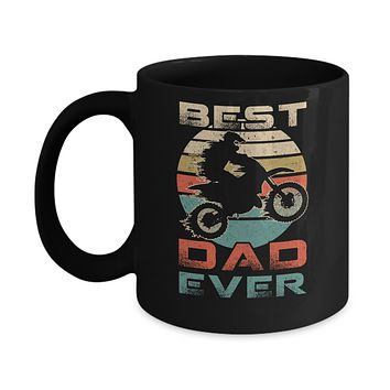 Vintage Best Motocross Dad Ever Gift Father's Day Mug
