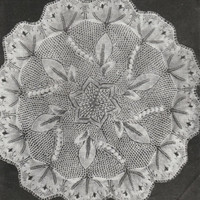 INSTANT DOWNLOAD-Vintage knitting pattern for pretty lace baby christening shawl-pdf email delivery
