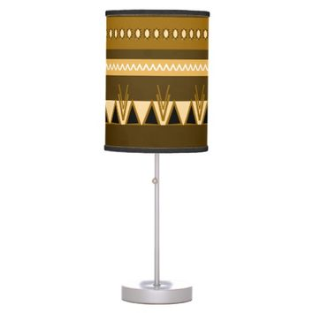 Aztech Tribal design Desk Lamp