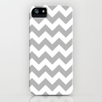 Chevron Grey iPhone Case by productoslocos | Society6