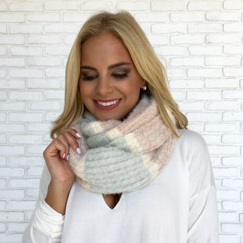 Pastel Stripe Plush Scarf
