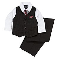 4-pc Stripped Vest Set - Baby Boys 3m-24m - JCPenney