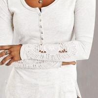 Cupshe Call Me Baby Basic Lace Top