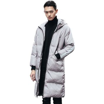 Big Size S-5XL Men Down Winter Parka Hooded Long Sleeve Thicken Warm Quilted Jackets Male Down Cotton Wadded Coat Outwear New