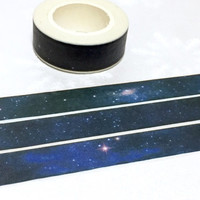 Outer space washi tape 10M fancy night starry night SOLAR System Planets masking tape universe little star sticker planner diary decor gift