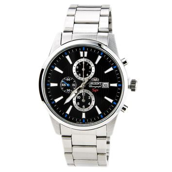 Orient TT12003B Men's SP Black Dial Stainless Steel Chronograph Watch