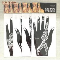 Henna Temporary Hand Tattoo Stencils (4 Piece)
