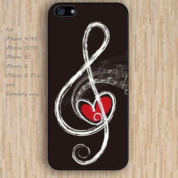 iPhone 5s 6 case music case heart case phone case iphone case,ipod case,samsung galaxy case available plastic rubber case waterproof B530