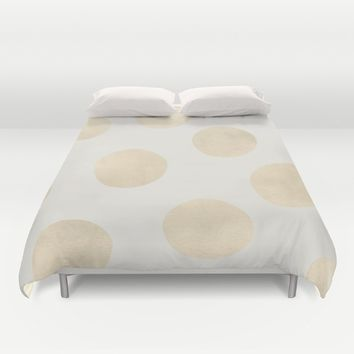 Gold Polka Dots Duvet Cover by Georgiana Paraschiv