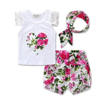 Floral Shorts Outfit  Baby Girls