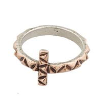 House of Harlow 1960 Jewelry Cross Ring - Rosegold