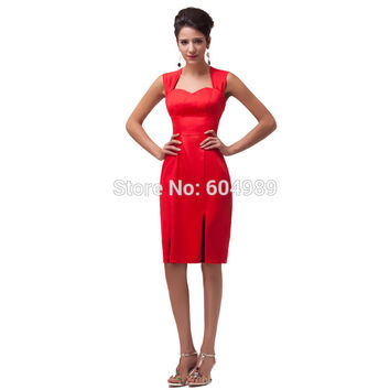 Summer Style Black/Red Women Short 50s Prom Dresses 2017 60s Retro Vintage Bodycon Cocktail Party Pencil Dress Vestidos 4591