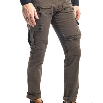 Flap Pocket Zipper Moto Jeans - More Colors