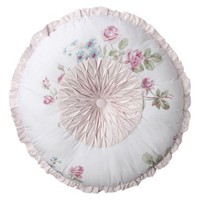 Simply Shabby Chic® Essex Pintuck Round Pillow - White