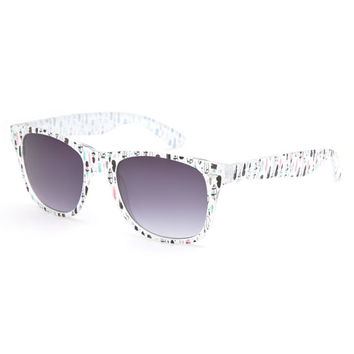 Full Tilt Feathers Classic Sunglasses White One Size For Women 26359915001