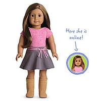 American Girl® Dolls: Medium skin, layered brown hair, brown eyes