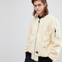 HUF Sherpa Bomber Jacket at asos.com