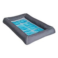 "Pet Therapeutics Grey TheraCool Cooling Gel Pet Bed, 25"" L x 21"" W 