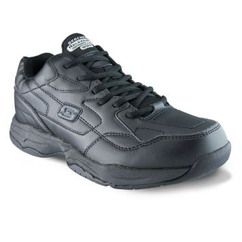 Skechers Relaxed Fit Felton Altair Work Shoes – Men (Black)