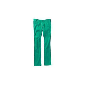 Dickies Juniors School Uniform 5-Pocket Stretch Twill Skinny Pants, 9, Green