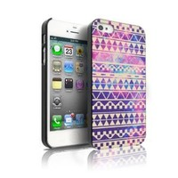 iPhone 4S Case, MagicMobile® Snap On Case Retro Stain Nebula Cream Astec Maya Tribal Art Design Print Ultra Slim Cover