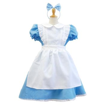 Halloween Adult and kids Maid outfit Costume Dress Snow White Princess Cosplay Costumes Dress Alice In The Wonderland Costume