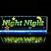 LED lighted night light Multicolor Night Night