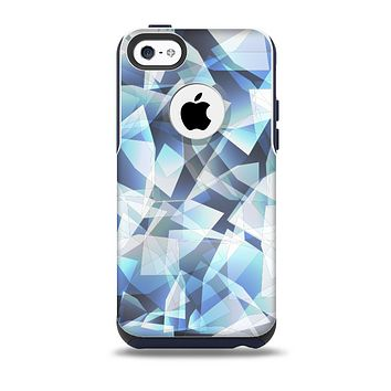 The Abstract Blue Overlay Shapes Skin for the iPhone 5c OtterBox Commuter Case