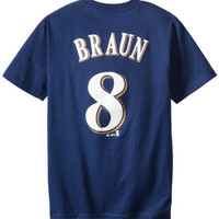 MLB Milwaukee Brewers Ryan Joseph Braun Navy Basic Youth T-Shirt Navy, X-Large