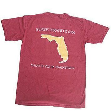 FL Tallahassee Gameday T-Shirt in Garnet by State Traditions