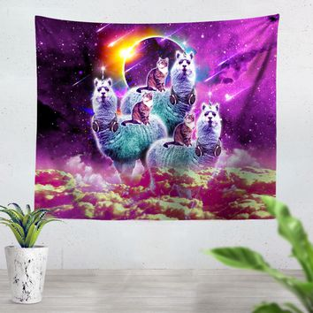 Llamacorn Cat Tapestry
