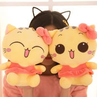 Skirt big cat face kids toys pokemon stuffed toys dolls plush toys anime figure pillow dolls for girls 23cm Two kinds of styles