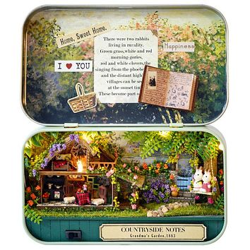 DIY Dollhouse - Box Theater - Days in the Countryside- 🌿🦊🌱🐮☘️