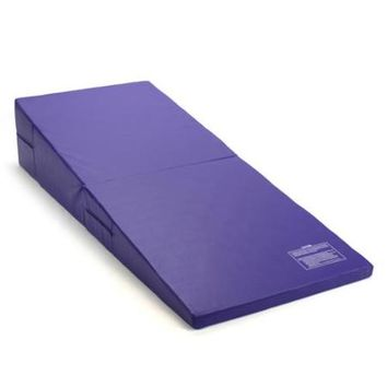 Purple Folding Incline Gymnastics Mat Training Foam Triangle Gym Tumbling Wedge - Walmart.com