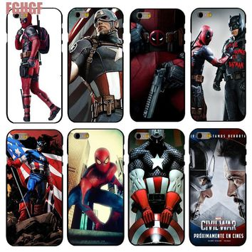 Deadpool Dead pool Taco For Apple iPhone 4 4S 5 5S SE 5C 6 6S 7 Plus 8 8p Back Case Cover  Captain America iron Man Printing Hard Plastic Shell AT_70_6