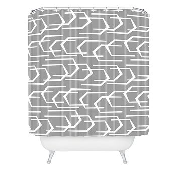 Heather Dutton Going Places Slate Shower Curtain