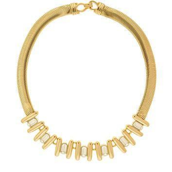 balenciaga vintage gold rhinestone necklace 2